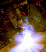 Welder man — Stock Photo
