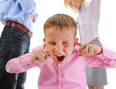 Pais compartilham criança. — Foto Stock