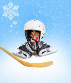 Hockey Stick helmet trophy winner — Stock Photo