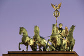 Berlin - Quadriga from Brandenburger Tor by Sunset — Stock Photo