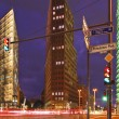 Berlin - Potsdamer Platz at Night - Stock fotografie