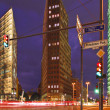 Berlin - Potsdamer Platz at Night - 图库照片