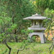 Stone lantern in Japanese garden — Stock Photo
