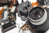 Broken digital camera — Stock Photo