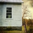 Old farm  house window - Stock Photo