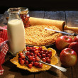 Freshly baked apple and cranberry pie — Stock Photo #7229150