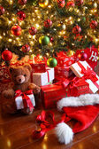 Gifts under the tree for Christmas — Foto Stock
