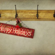 Holiday sign on antique plaster wall — Stock Photo #7743782