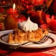 tarta de crumble de manzana para las fiestas — Foto de Stock