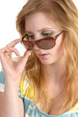 Woman with sunglasses. — Stock Photo