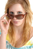 Girl with sunglasses. — Stock Photo
