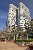 PARIS FRANCE - APRIL 14: Business district La Defense April 14, 2011 in Par — Stock Photo