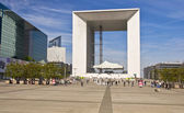 PARIS FRANCE - APRIL 14: Grand Arch. Business district La Defense April 14, — Stock Photo