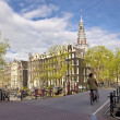 Classic Amsterdam view — Stock Photo