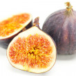 Big juicy figs isolated on white — Stock Photo