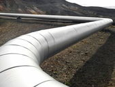 Oil and gas pipeline — Stockfoto