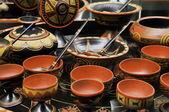 Conjunto chino de taza de sopa — Stok fotoğraf