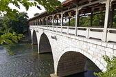 čínská obloukový kamenný most — Stock fotografie