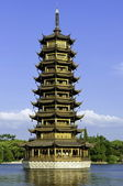 Guilin one of the twin pagodas — Stock Photo