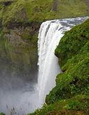 Iceland mountain waterfall — Stock Photo