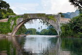 Chinese stone bridge — Stock Photo