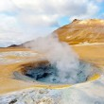 Iceland geothermal fumarole — Stock Photo