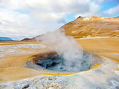 Iceland geothermal fumarole — Stock Photo