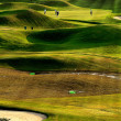 Golf place with nice green — Stock Photo