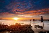 Güzel bir plaj güzel arka plan rengi ve bulut — Stok fotoğraf