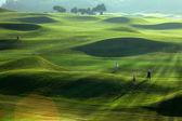 Lugar de golf con buen verde — Foto de Stock