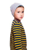 Poor homeless orphan child — Stock Photo