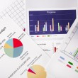 Business graphs and charts — Stock Photo