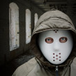 Spooky man with mask — Stock Photo #7908937