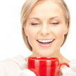 Woman with red mug — Stock Photo #6764507