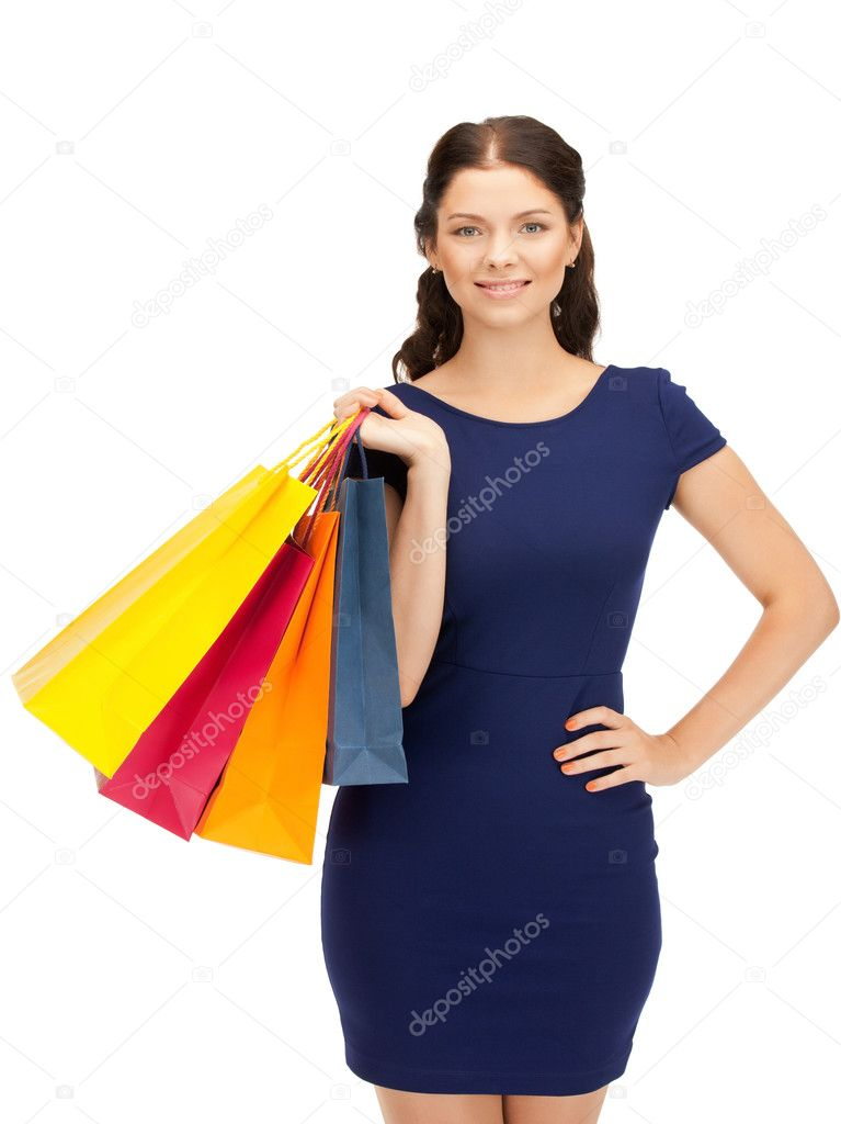 Picture of lovely woman with shopping bags — Stock Photo #6850162