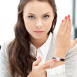 Businesswoman with watch — Stock Photo #6860050