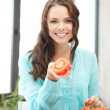 Beautiful woman in the kitchen — Stock Photo #6860088
