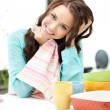 Lovely housewife at the kitchen — Stock Photo #6880764
