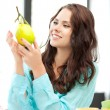 Lovely woman with lemon — Stock Photo #6880771