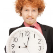 man with clock — Stock Photo