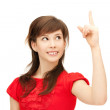 Teenage girl with her finger up — Stock Photo #7105817