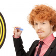 Businessman with dart and target — Stock Photo #7128483