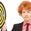 Businessman with dart and target — Stock Photo #7165654