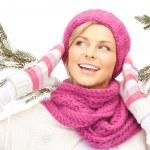 Beautiful woman in winter hat — Stock Photo #7200425