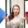 Woman with folders — Stock Photo #7200536