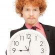 Stock Photo: Man with clock