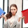 Royalty-Free Stock Photo: Woman with folders