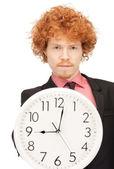 Man with clock — Stock Photo
