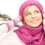 Beautiful woman in winter hat — Stock Photo #7235486