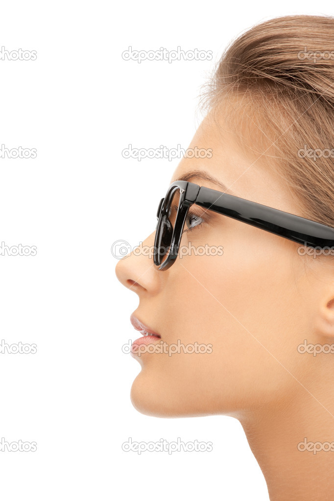 Closeup picture of lovely woman in spectacles — Stock Photo #7235722